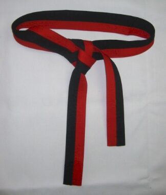Belt Black & Red 3.0m x 55mm Jnr Black Belt