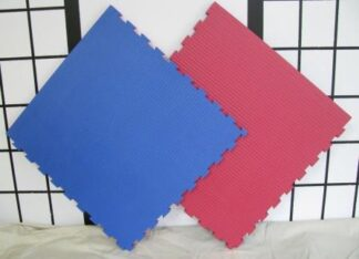 Mats for Dojo Jigsaw Red & Blue 40mm