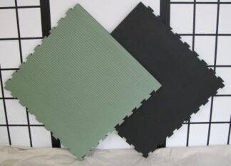 Mats for Dojo Jigsaw Green & Black 40mm