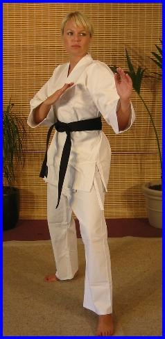 White Karate Cotton Gi 7.5oz 3/160