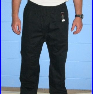 Trousers - Black 4/170 Tie Pull Waist