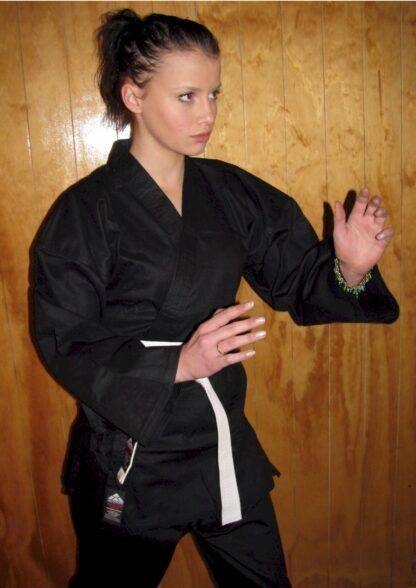 Black Karate Cotton Gi 8.5oz 2/150