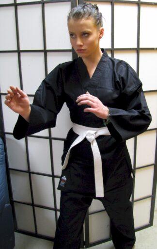 Black Karate Cotton Gi 8.5oz 4/170