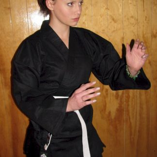 Black Karate Cotton Gi 8.5oz 5/180