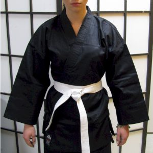 Black Karate Cotton Gi 8.5oz 7/200