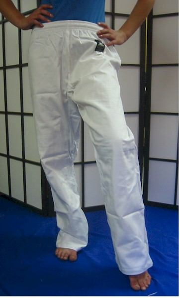 Trousers - White Elasticated 4/170