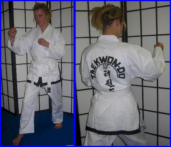Tae-Kwon-Do  ITF Style Black Trim Size 3/160