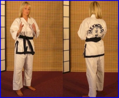 Tae-Kwon-Do  ITF Style Black Trim Size 4/170