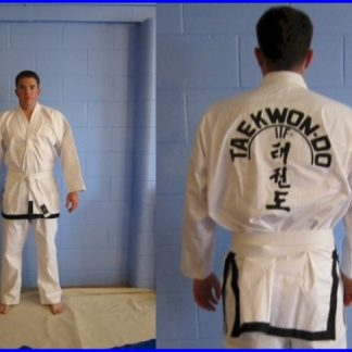 Tae-Kwon-Do  ITF Style Black Trim Size 6/190