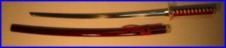 Iaito Katana Maroon Tsuka Satinless Decorative Sword