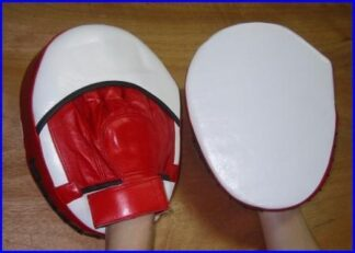 Pad Focus  Med Size leather Red & White
