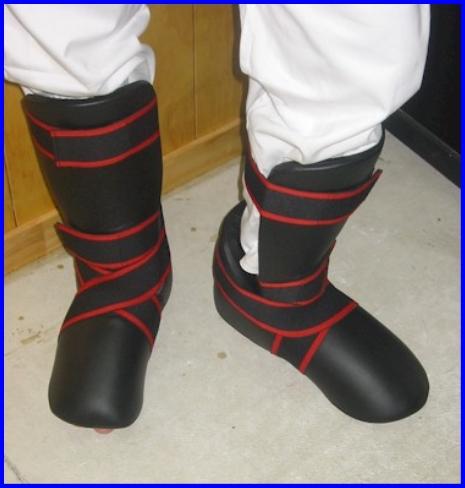 Protector Shin Foot Heel PU Set, Black