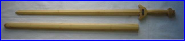 """Tai-Chi AA Grade Bamboo Sword w Bam Scabbard 36"""""""