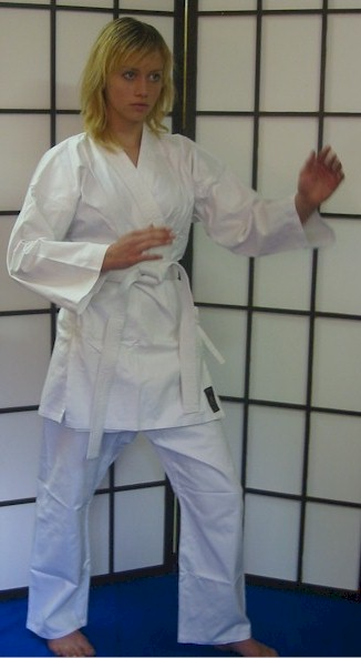 White Karate Cotton Gi 8.5oz 1/140