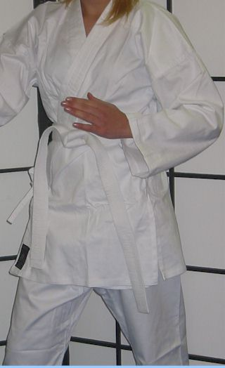 White Karate Cotton Gi 8.5oz 2/150