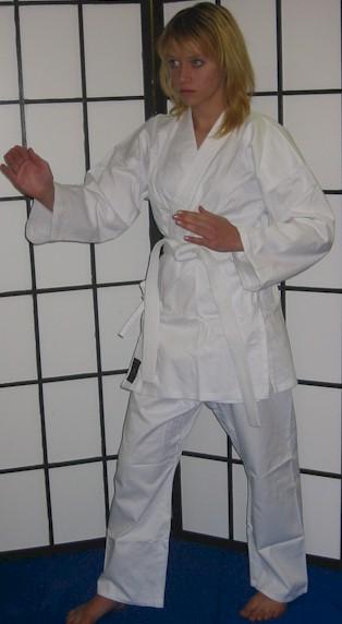 White Karate Cotton Gi 8.5oz 3/160