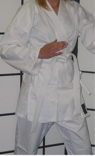 White Karate Cotton Gi 8.5oz 4/170 & P