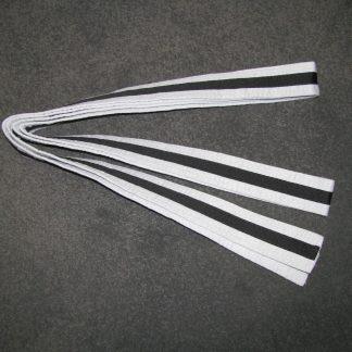 White Belt with Black Stripe 2.5m