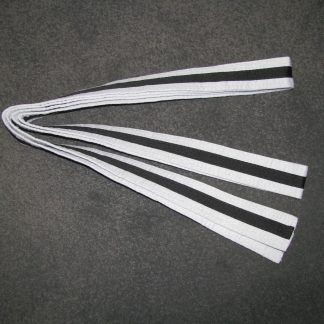 White Belt with Black Stripe 3m