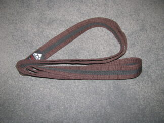 Brown  Belt with Black Stripe 3m