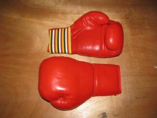 Gloves, Boxing Leather 12 oz, Red