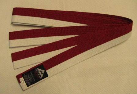 Belt Red & White horizontal stripe