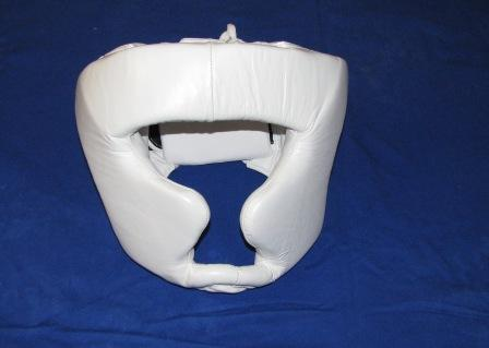 Protector Head Guard Leather White L,M,S.