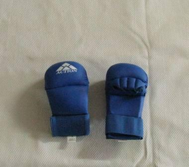 Gloves Lightweight PU Sparring Mitt Blue Medium