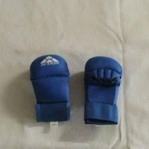 Gloves Lightweight PU Sparring Mitt Blue Large