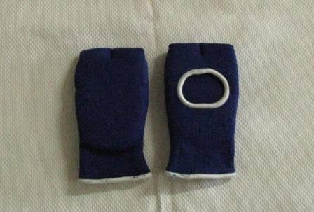 Gloves Fabric Training Mitt Stretch Blue S