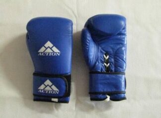 Gloves, Boxing Leather 14 oz, Blue