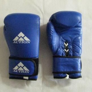 Gloves, Boxing Leather 16 oz, Blue