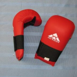 Mitts Karate /TKD PU Red Small